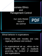 Business Ethic and Management Control