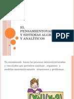 El Pensamientovariaciona y Sistemas Algrbraicos y Analíticos