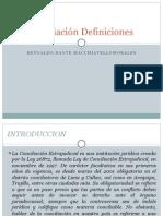 La Conciliación Definiciones