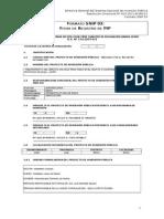 Formato SNIP03 Ficha de Registro dje PIP