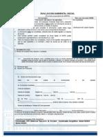 Formato de Ingreso de Evaluacion Ambiental Inicial