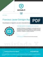 Liderazgo y gestión de equipos de alto rendimiento Francisco Javier Cervigon Ruckauer