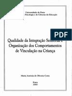 Qualidade Da Integração Sensorial e Organização...