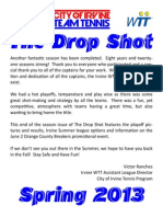 The Drop Shot - Spring 2013 Season in Review