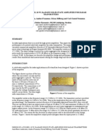 Design of a Pulsed, 10 w, Ku-band Solid-state Amplifier for Radar Transmitters