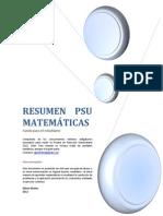 Resumen PSU de Matemáticas