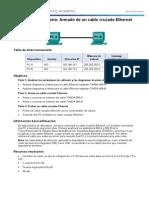 Acceso Red Construccion Cable UTP Cruzado Practica 02
