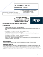 Special Meeting Agenda 11-02-15