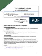 Regular Meeting Agenda 11-03-15