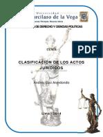 Clasificacic3b3n de Los Actos Jurc3addicos
