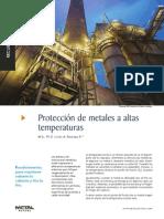 Proteccion de metales a altas temperaturas