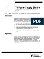 NI PXIe-1075 Power Supply Shuttle