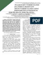 THERAPY OF PULMONARY TUBERCULOSIS WITH MULTIDRUG-RESISTANT MYCOBACTERIUM TUBERCULOSIS USING TIOUREIDOIMINOMETHYLPYRIDINIUM PERCHLORATE (PERСHLOZON)