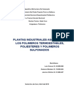 Plantas Industriales Asociadas a Los Polímeros Termoestables