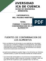 Formas de Contaminacion de Los Alimentos