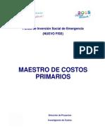 Guía No 10 - Catálogo de Costos Unitarios Primarios