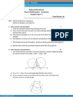 Maharashtra-Mathematics Geometry Sample Paper-1-Class 10 Question Paper