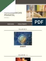 Proses perkembangan pranatal