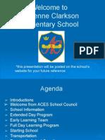 Welcome to Adrienne Clarkson Elementary School 1 2015 - 2016