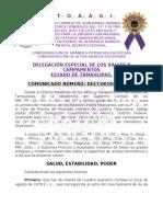Comunicado 0010 Delegación Tamaulipas Supremo Consejo de México