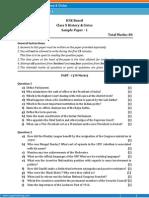 ICSE- History & Civics Sample Paper-1-Class 10 Question Paper