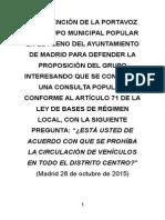 Prohibir la circulación en el Centro de Madrid