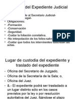 Custodia Del Expediente Judicial
