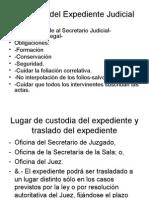 Custodia Del Expediente Judicial