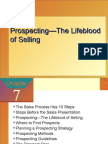 Prospecting-- LifeBlood of Selling