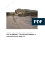Estudio Geologico Del Puente Rio Quillich