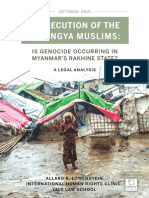 PERSECUTION OF THE  ROHINGYA MUSLIMS: