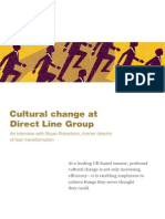 Cultural Change at Direct Line Group
