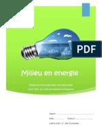 vakoverschrijdende werkbundel - milieu en energie