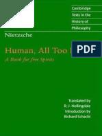 Friedrich Nietzsche - Human All Too Human a Book for Free Spirits (1996)