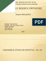 CANOANELE BISERCII ORTODOXE