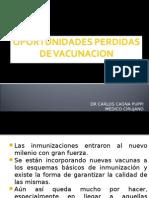Oportunidades Perdidas de Vacunacion