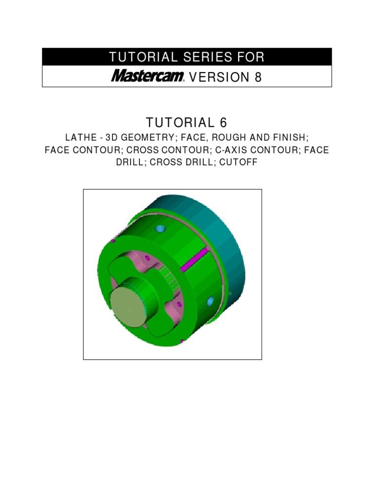 mastercam c axis tutorial6 machine tool machining rh pt scribd com tutorial mastercam x5 español torno Mastercam X7