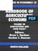 Handbook of Agricultural Economics - Vol 2B - Agricultural and Food Policy - B L Gardner & G C Rausser (North Holland) - Agribusiness
