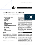 #11a What Makes a Helpful Online Review a Study of Customer Reviews on Amazon.com