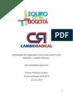 Programa de Gobierno Peñalosa