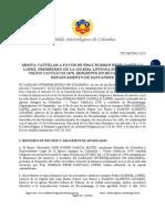 Misiva Cautelar CIC-MC003-2015 a favor de Fray Roiman Rene Castillo Lopez