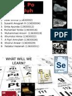 selenium, telurium,polonium, and livermorium