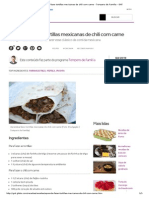 Aprenda a Fazer Tortillas Mexicanas de Chili Com Carne