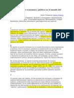 La ruptura entre economía y política en el mundo del capital -Jaime Osorio