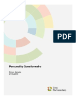 Psychometric Tests Sample Report Personality