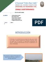 DRENAJE SUBTERRÁNEO diapositivas