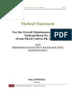Method Statement for Dbst Road Maintenance