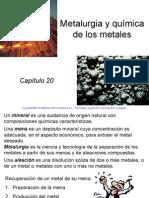 20. Metalurgia y Química de Los Metales. Raymond Chang