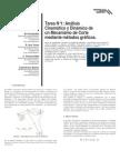 Análisis cinemático y dinámico de un mecanismo de corte mediante métodos graficos