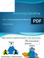 Assessing Speaking Part 2 17.01.14